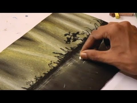 amazing Landscape painting for beginners [ Using pastels ] Easy & Fast