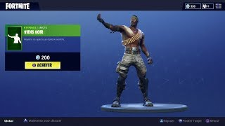 "FORTNITE | Boutique du 9 juillet New Emote ""VIENS VOIR"" ! (BRING IT)"