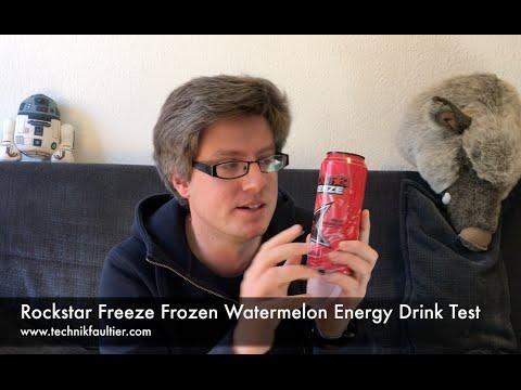Mini Kühlschrank Rockstar Energy : Rockstar freeze frozen watermelon energy drink test youtube
