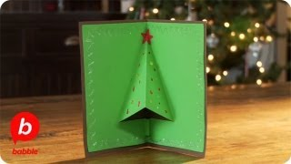 How To Make A Christmas Tree 3-d Card | Crafts | Babble