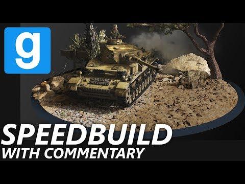 Gmod Speedbuild | Panzer Diorama W/ COMMENTARY