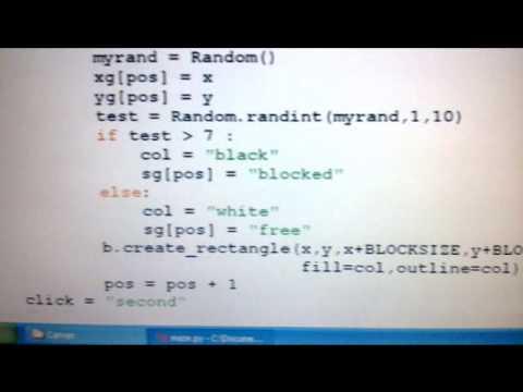 Python graphics/ tkinter program with maze puzzle