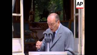 Defeated team arrives home, meet President Chirac