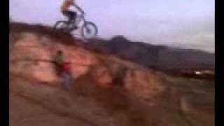 Huge Bike Drop 10 feet