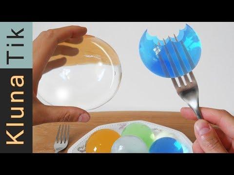 WATER BALLS (orbeez) For LUNCH! Kluna Tik | ASMR Sounds No Talk JUMBO Polymer Experiment