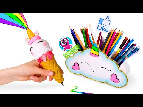 DIY: Miniature UNICORN School Supplies