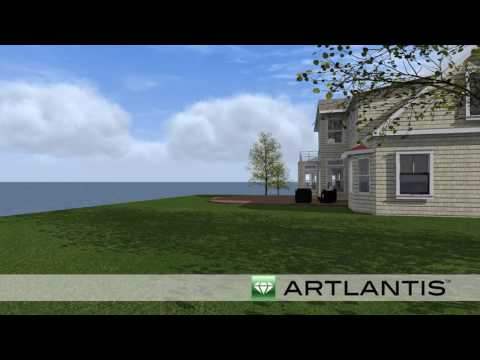3D Rendering #2 Cape Cod Custom Waterfront Home Design by REEF
