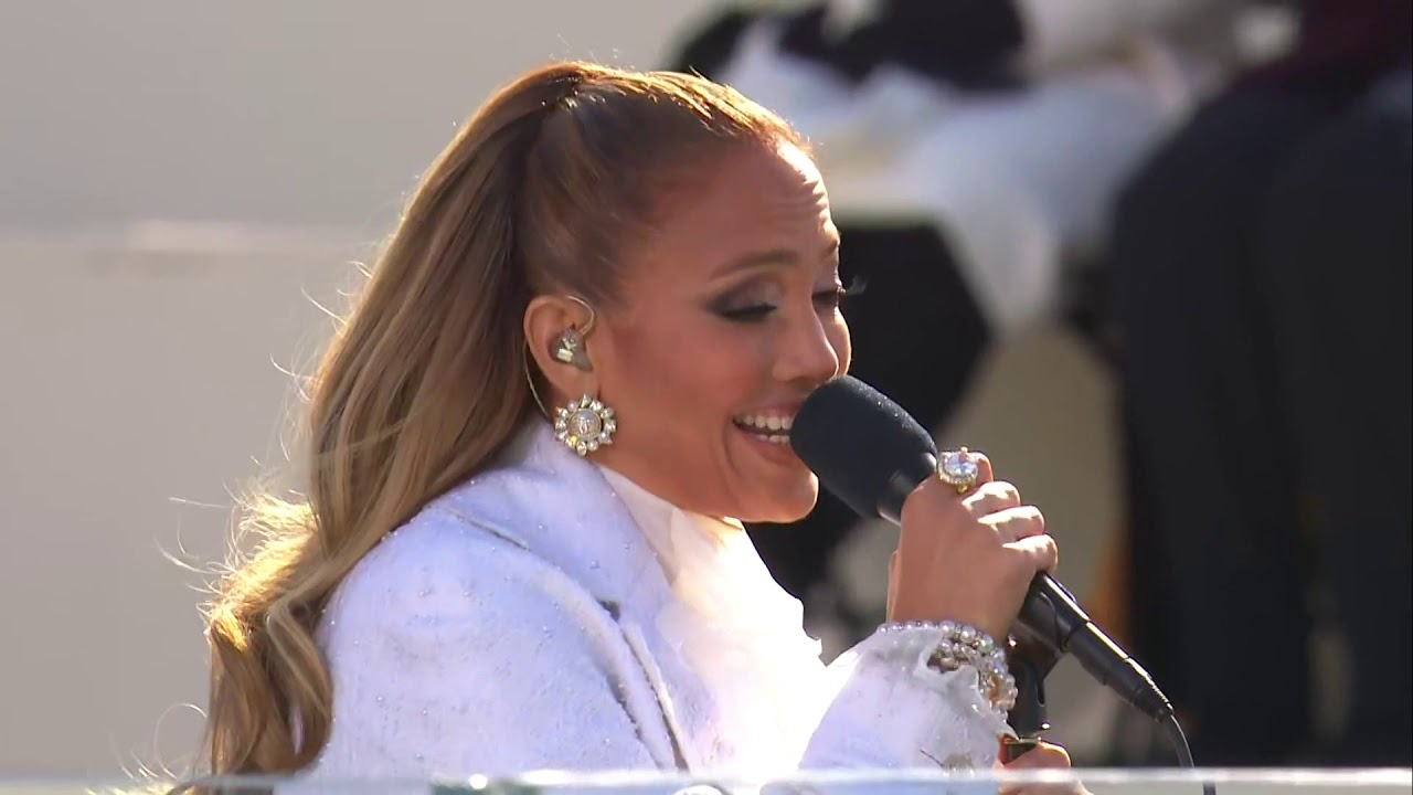 Jennifer Lopez adds her own twist to 'This Land Is Your Land' at ...