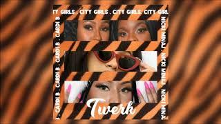City Girls - Twerk REMIX ft. Cardi B, Nicki Minaj (Audio) (MASHUP)