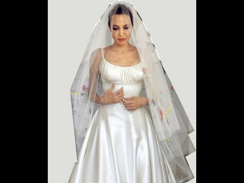 Angelina Jolie Wedding Dress Revealed - YouTube