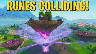 THE RUNES ARE COLLIDING RIGHT NOW! FORTNITE NEW CUBE EVENT FINALLY HAPPENING?