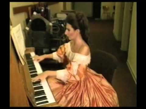 LUCIA ALIBERTI at the piano during the exercises before going on stage
