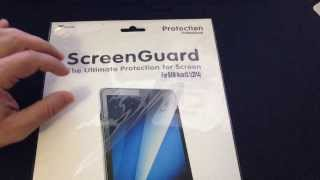 Installation and Review of RooCase Screen Protector for the Samsung Galaxy Tab Pro 10.1