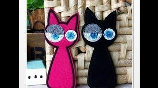 Кошка и кот из ткани!!!:):):)