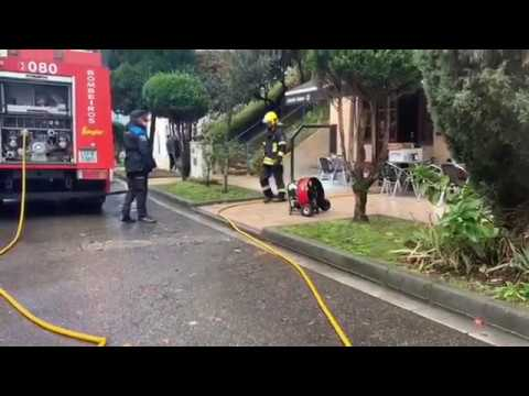 Incendio en el Mesón Boavista, en Lugo