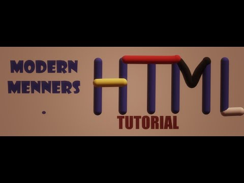HTML Lesson 4- HTML CSS