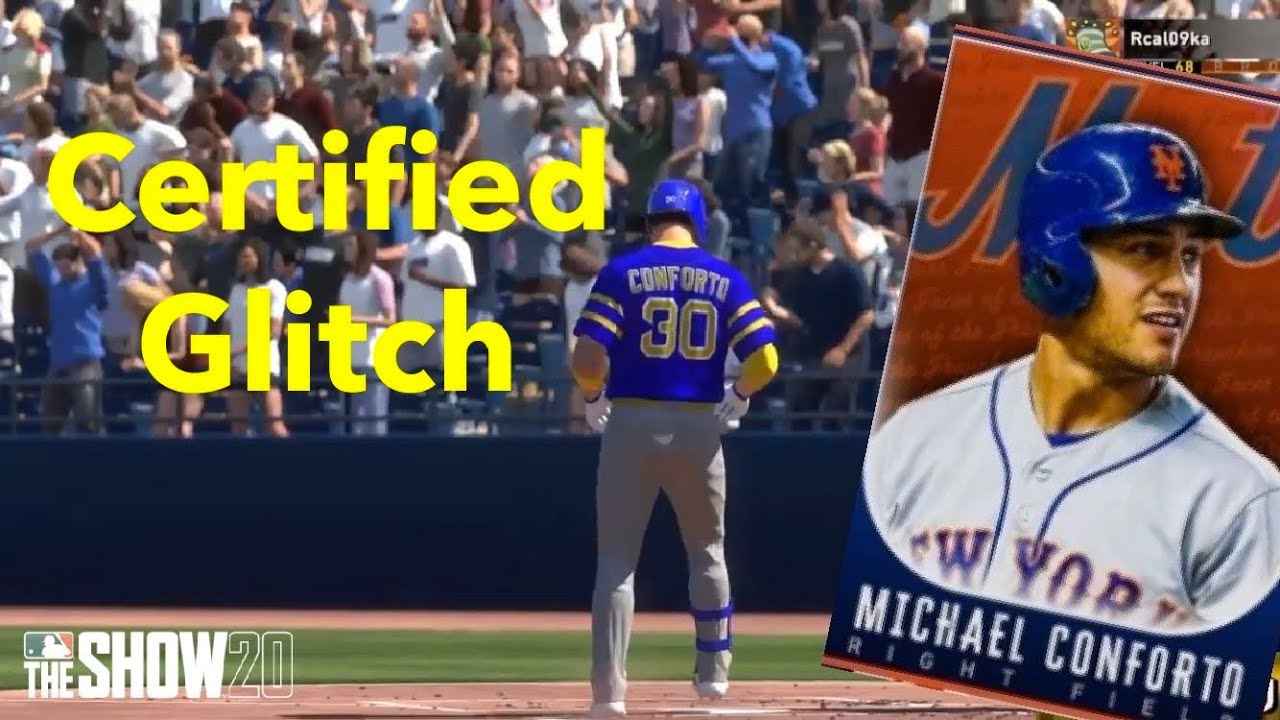 Diamond Conforto Is A Glitch Face Of The Franchise Michael Conforto Debut Mlb The Show 20 Youtube