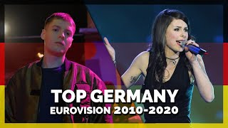 Eurovision GERMANY (2010-2020)   My Top 11