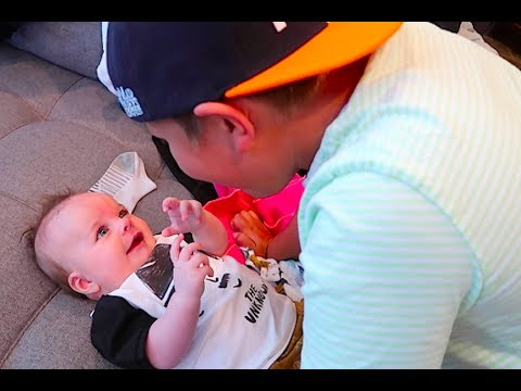 BROTHER makes baby laugh!