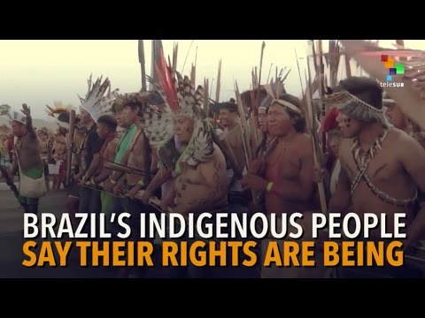 Police Violence Against Indigenous Protest In Brazil