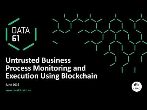 Untrusted Business Process Monitoring and Execution Using Blockchain
