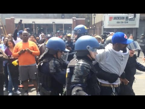 Baltimore Riots: Tensions Rise Between Police and Protestors