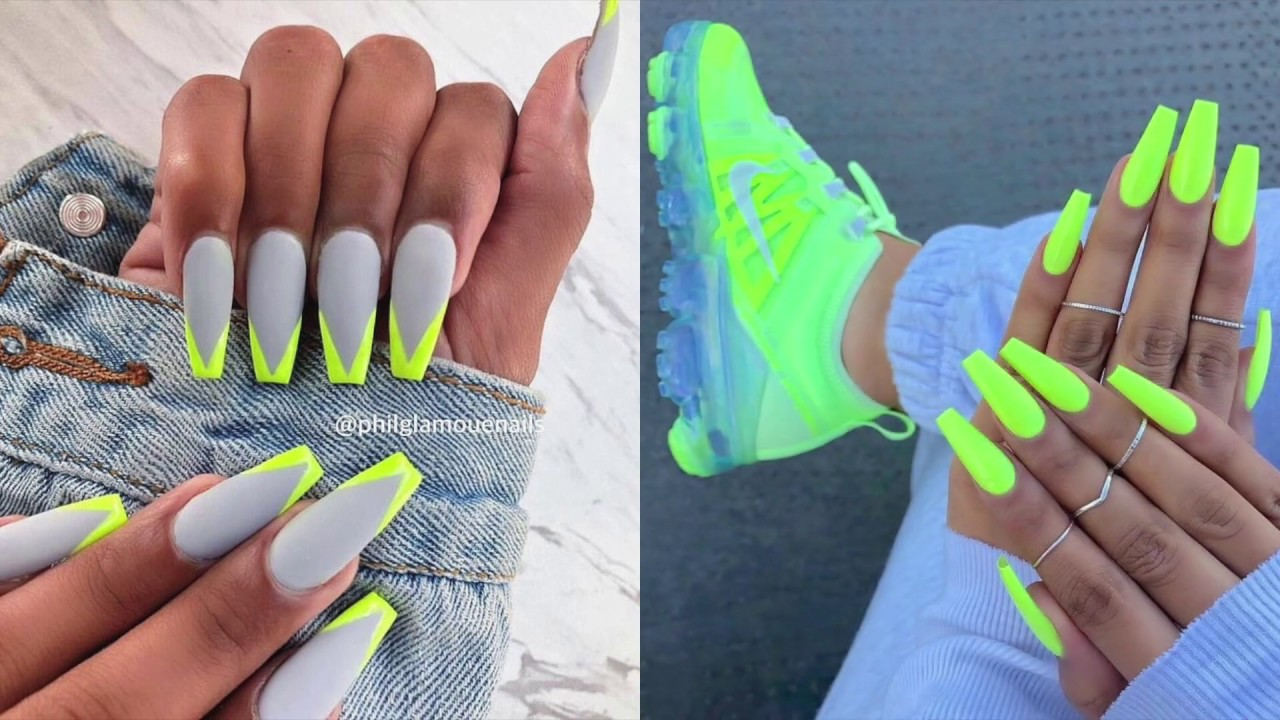 Fabulous Neon Colors Ombre Nails To Try ... |Neon Blue Nails