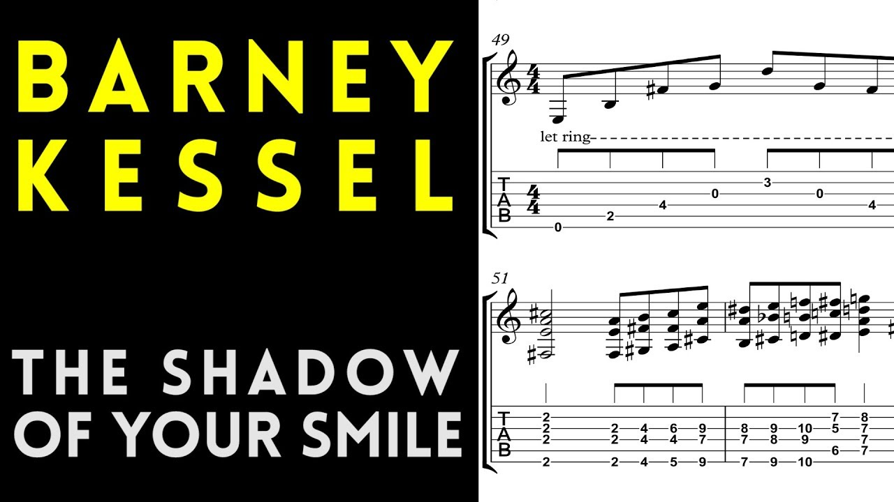 Barney Kessel The Shadow Of Your Smile Live Solo Guitar