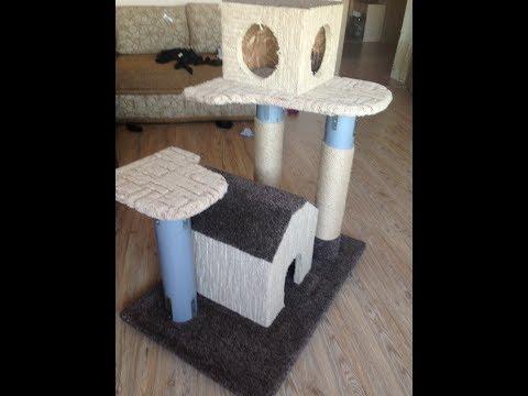 Как построить домик для кошки своими руками фото