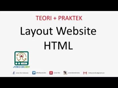 Membuat Layout Web Dengan HTML Dan CSS | Tutorial HTML (part 10)