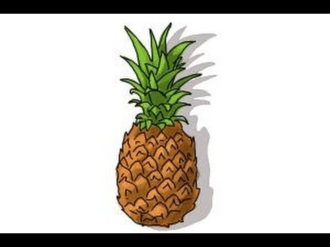 How to draw a Pineapple - YouTube