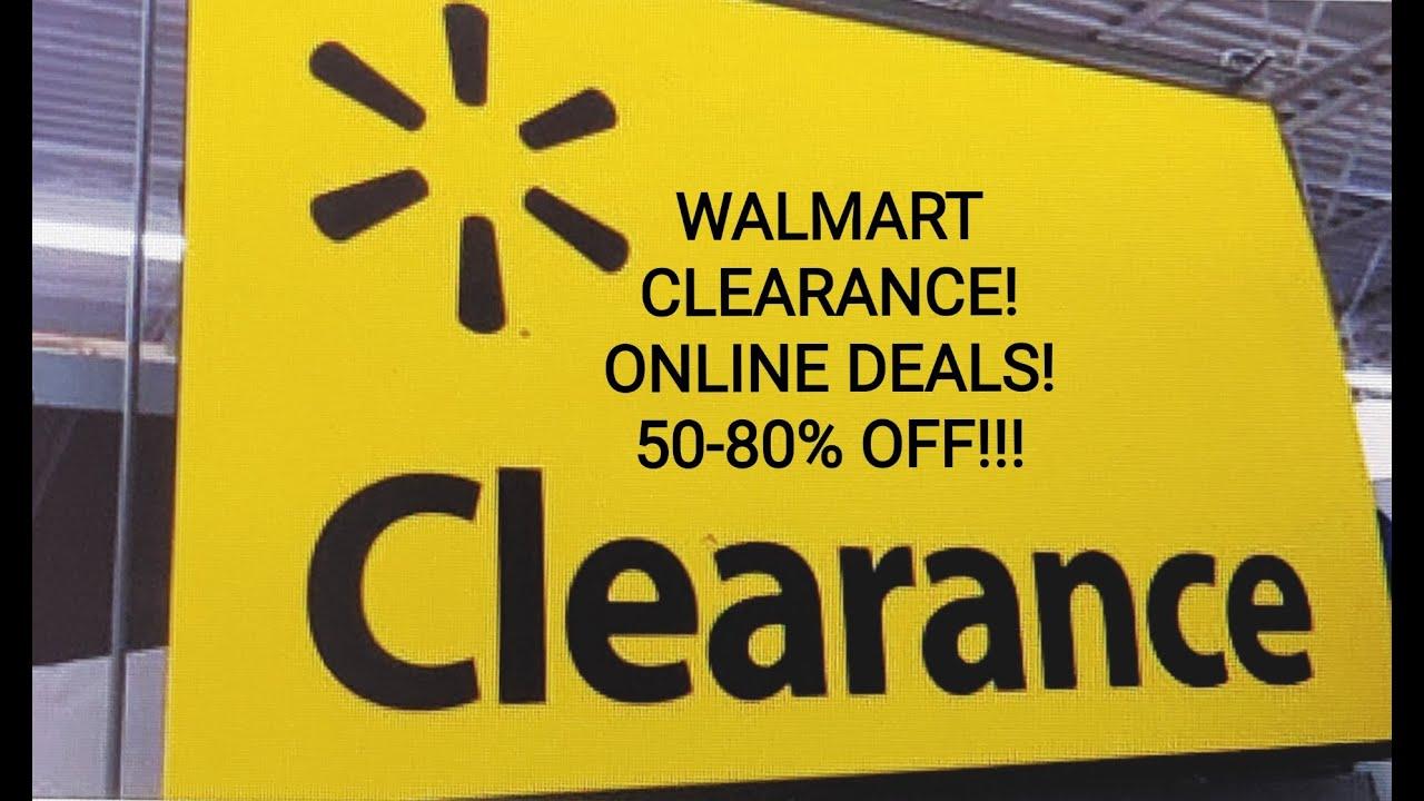 WALMART CLEARANCE!! ONLINE DEALS! 50-80% OFF!!