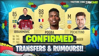 FIFA 20 | NEW CONFIRMED TRANSFERS & RUMOURS!! 😱🔥 | FT. POGBA, IBRAHIMOVIC, POCHETTINO..