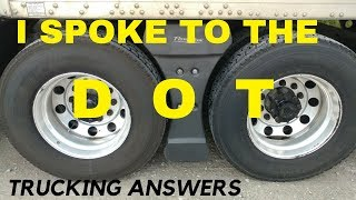 I asked the DOT a question that you have been asking me.