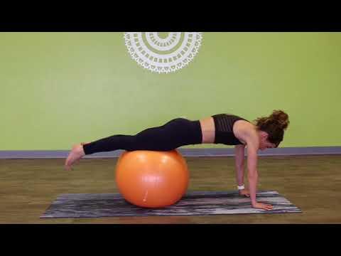 Handstand using a ball