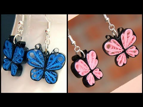 Quilling Earring with comb quilling earring Designs