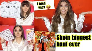 Shein biggest haul Ever || I tried wigs first time || birthday special