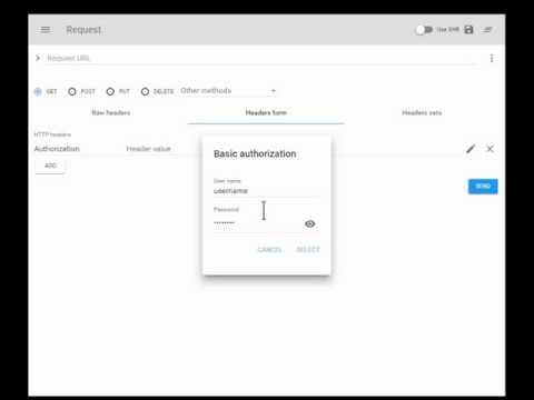 Advanced REST Client - HTTP Basic authorization