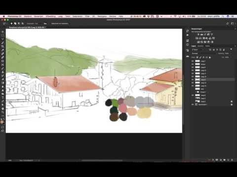 Spain landscape | Digital Painting | Photoshop |  Speed Drawing 1/3