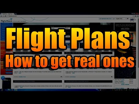 HOW TO GET REAL FLIGHT PLANS
