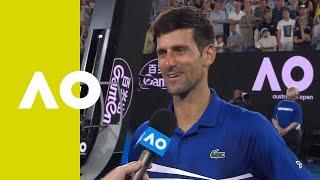 Novak Djokovic on-court interview (SF) | Australian Open 2019