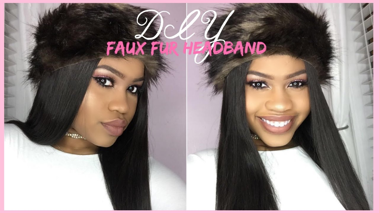 DIY FAUX FUR HEADBAND  1b462dbc5dd