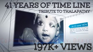 Vijay anna's 41 Years of Timeline