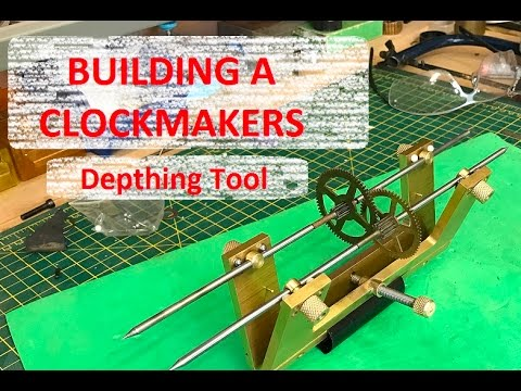 How to make a Clockmakers Gear Depthing Tool   - Simple Design