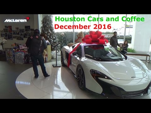McLaren Dealership Houston Cars and Coffee! + Cars leaving