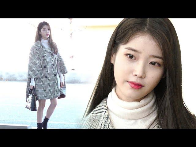 200218 아이유(IU) 출국|인천공항 · 비몽