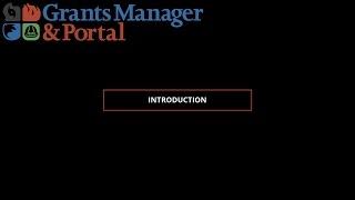 FEMA PA Grants Portal Grants Manager Video Series: Introduction