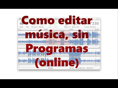 Como editar musica, audio sin programas(online)/edición de audio basico