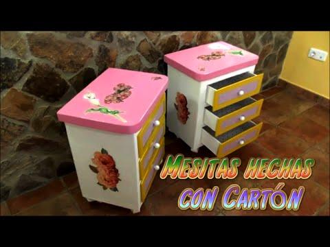 Mesitas hechas con Cartn Manualidades fciles y econmicas YouTube