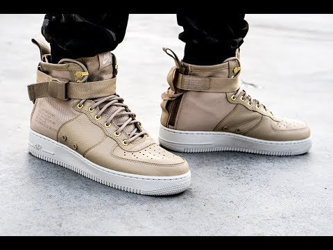 half off fd708 200ad On-Feet Look Nike SF Air Force 1 Mid Mushroom